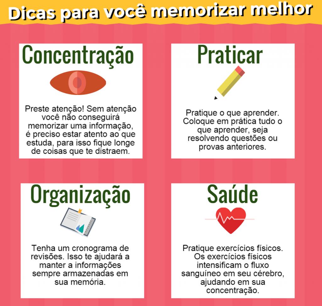 [Infográfico] Como você memoriza o que estuda?