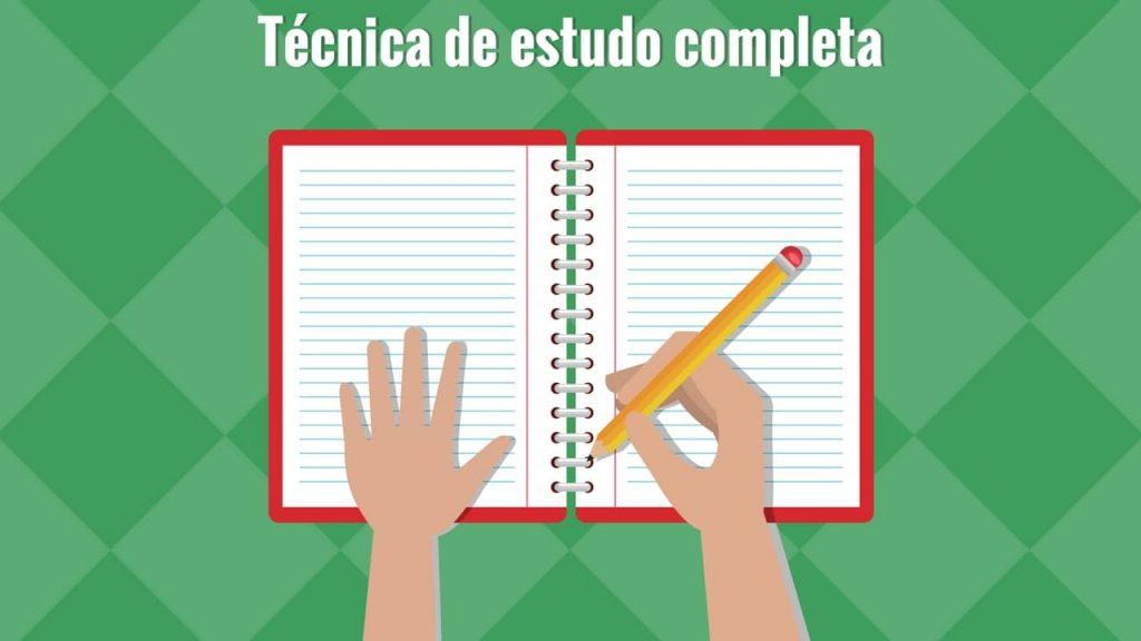 A técnica de estudo completa passo a passo